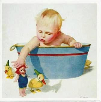 New Baby Card - Baby - Baby in Tub