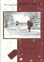 Christmas Card - Brother - Santa Delivering Presents
