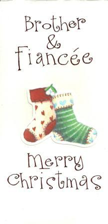 Christmas Card - Brother and Fiancée - Christmas Stockings