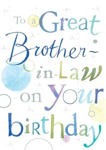 Brother-in-Law Birthday - Contemporary Text