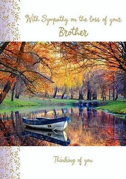 Sympathy Card - Loss of Your Brother - Autumn Landscape