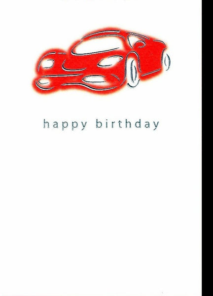 Birthday Card - Red Sports Car