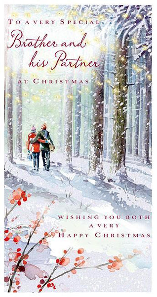 Christmas Card - Brother and Partner - A Walk In The Forest