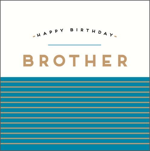 Brother Birthday - Blue Stripes