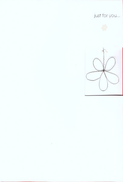 Birthday Cards - Pack Of 3 - Metal Flower