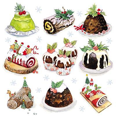 Charity Christmas Cards - Pack of 6 - Christmas Puddings