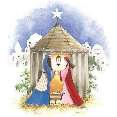Charity Christmas Cards - Pack of 6 - Away In A Manger