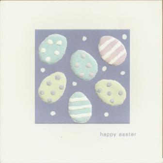 Easter Cards - Pack of 4 - Easter Eggs