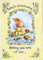 Christening Card - Bunny