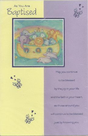 Christening Card - As You are Baptised