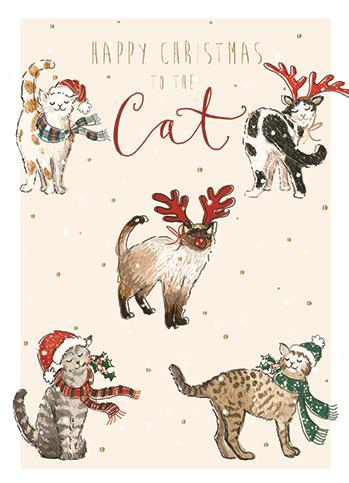 Christmas Card - To The Cat - Purr Fect Christmas
