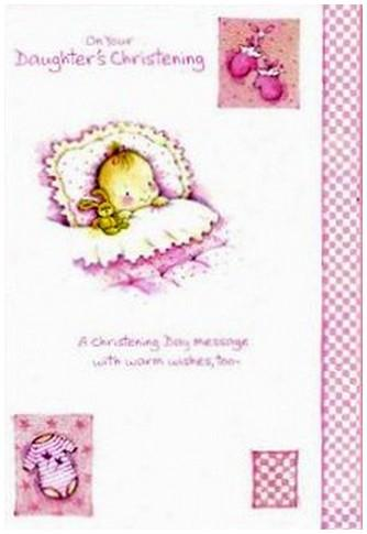 Christening Card - Daughter's Christening Day
