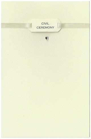 Commitment / Civil Partnership Card - Civil Ceremony - Ribbon & Heart