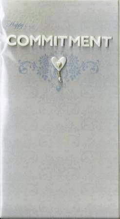 Commitment / Civil Partnership Card - Heart