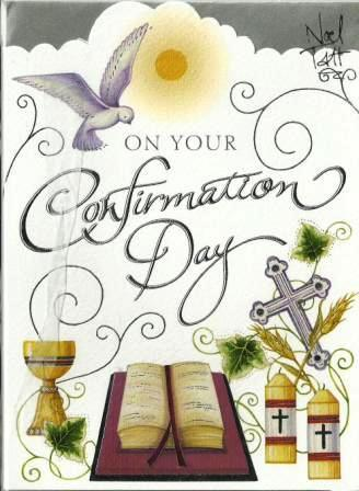 Confirmation Day Card - Holy Bible