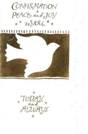 Confirmation Day Card - Dove
