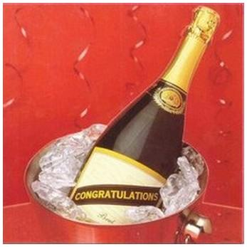 Congratulations Card - Congratulations - Champagne in Bucket