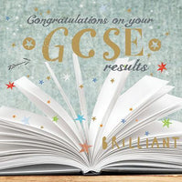 Congratulations Card - Exams GCSE - Open Book