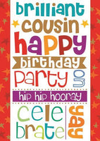Cousin Birthday - Colourful Text