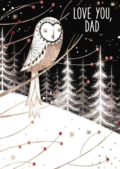 Christmas Card - Dad - Owl At Night