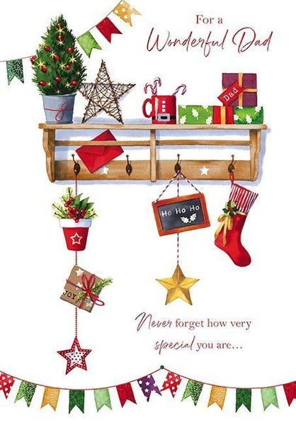Christmas Card - Dad - Christmas Shelf