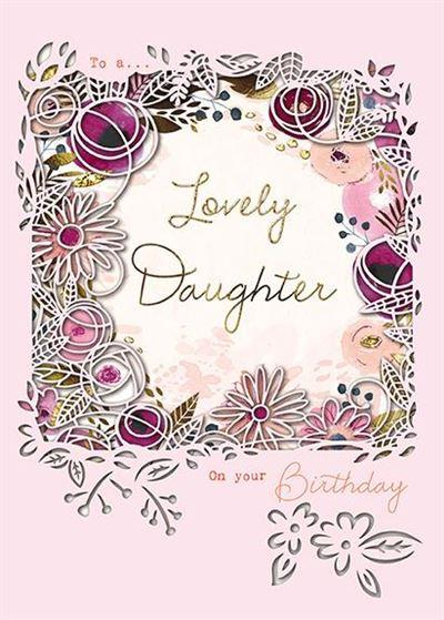 Daughter Birthday - Floral Border