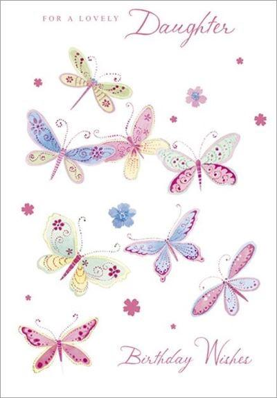 Female Relations, Daughter Birthday - Daughter Birthday - Pretty Butterflies
