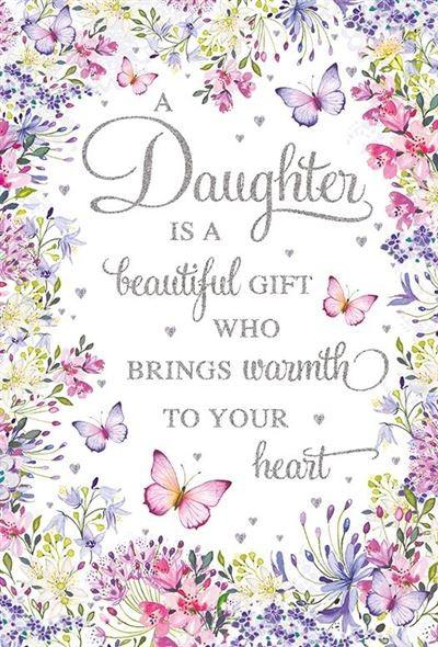 Female Relations, Daughter Birthday - Daughter Birthday - Butterfly Border