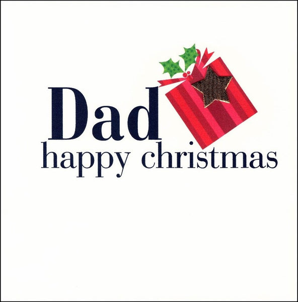 Christmas Card - Dad - Christmas Star On Gift