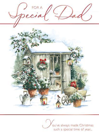Christmas Card - Dad - Garden Shed