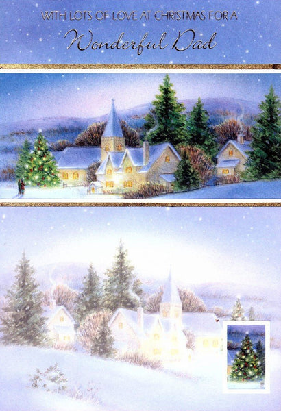 Christmas Card - Dad - Church Scene