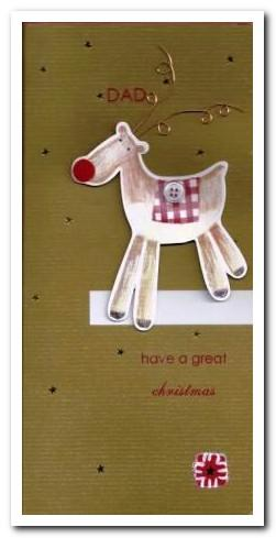Christmas Card - Dad - Red Nose Reindeer