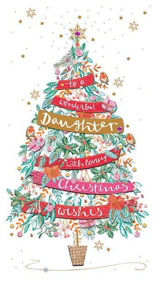 Christmas Card - Daughter - Christmas Tree