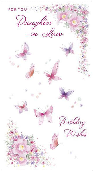 Female Relations, Daughter-in-Law Birthday - Daughter-in-Law Birthday - Butterflies