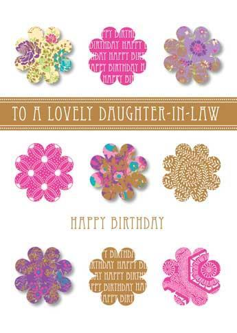 Female Relations, Daughter-in-Law Birthday - Daughter-in-Law Birthday - 9 Flowers