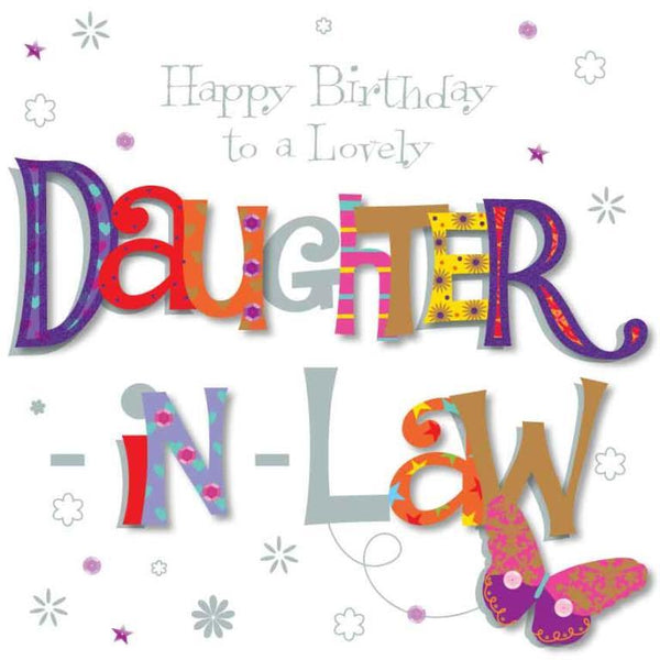 Female Relations, Daughter-in-Law Birthday - Daughter-in-Law Birthday - Butterfly