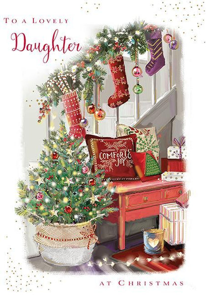 Christmas Card - Daughter - Sparkling Tree