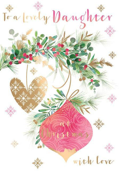 Christmas Card - Daughter - Deck The Halls