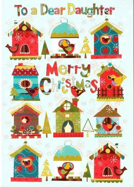 Christmas Card - Daughter - Bird Houses