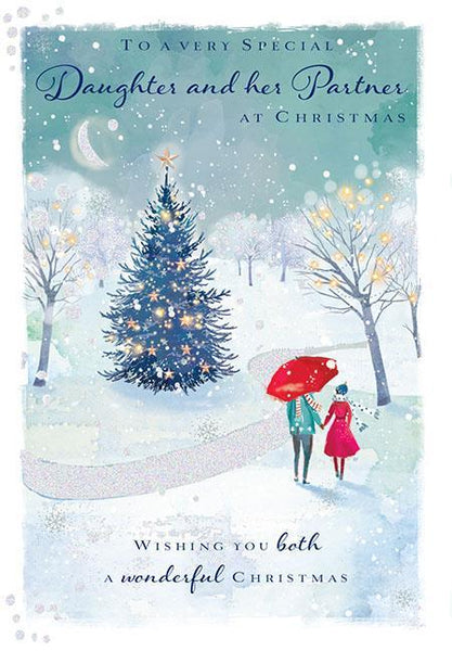 Christmas Card - Daughter and Partner - A Winter Walk In The Park