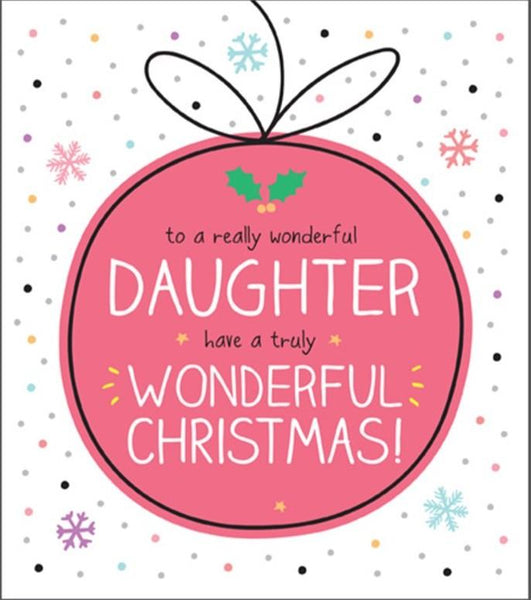 Christmas Card - Daughter - Bauble
