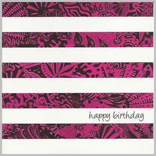 Birthday Card - Abstract Stripes