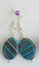 Jewellery - 925 Silver Turquoise Gemstone Drop Earrings
