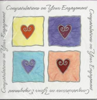 Engagement Card - 4 Windows of Hearts