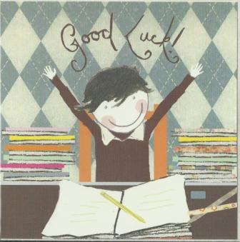 Good Luck Card - Boy With Arms In Air
