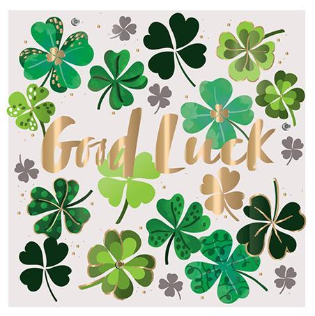 Good Luck Card - Good Luck Clovers