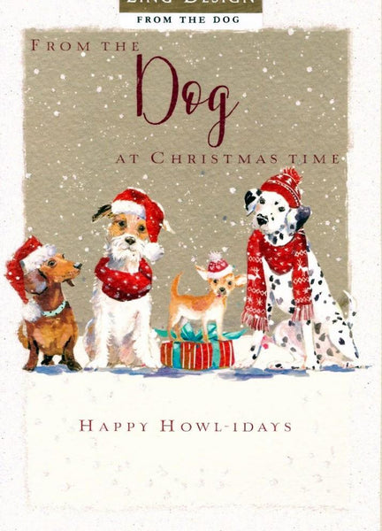 Christmas Card - From The Dog - Happy Howl-idays