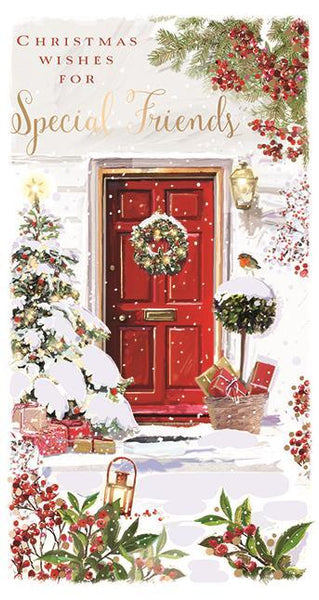 Christmas Card - Special Friends - Christmas Door
