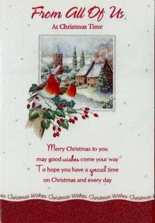 Christmas Card - From All Of Us - Robins