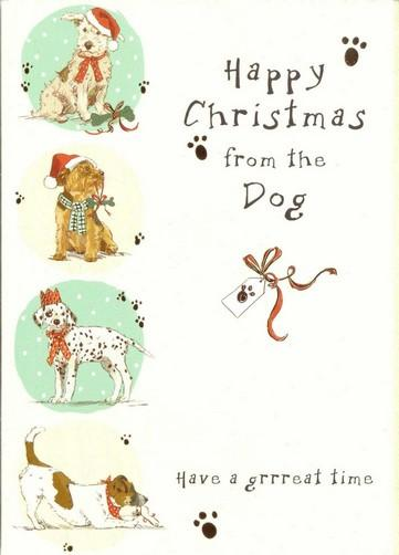 Christmas Card - From The Dog - Festive Doggies